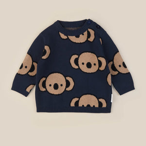 Huxbaby: Koala Knit Jumper Navy