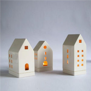 Ceramic House Tea light holder L