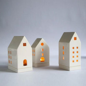 Ceramic House Tea light holder S
