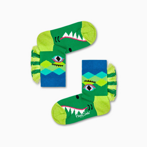 Happy Socks: Kids Crazy Crocodile Green
