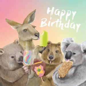 La La Land: Mini Card Happy Birthday Ice Cream Critters