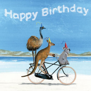 Mini Card Birthday Beach Bike