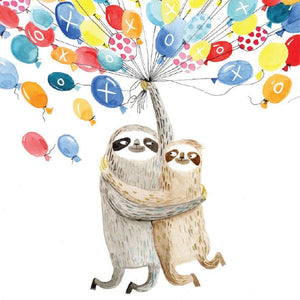 Mini Card Sloth Balloons