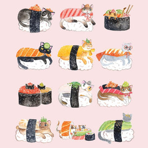 La La Land: Greeting Card Sushi Cats