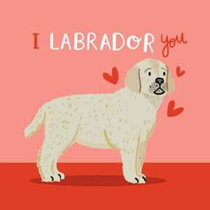 La La Land: Greeting Card I Labrador You
