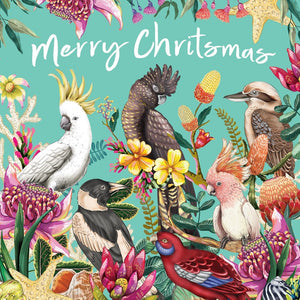 La La Land: Greeting Card Floral Paradiso Merry Christmas