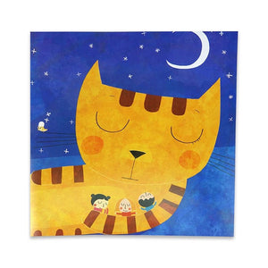 Greeting card Sleeping Cat