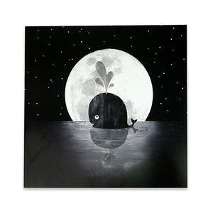 Greeting Card: Whale Moon