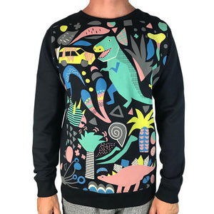 Jurassic Party Black Jumper