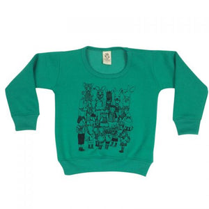 Animal School Bright Green Kids Jumper