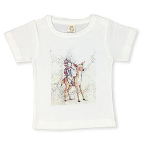 Forest Friends Offwhite Kids Tee