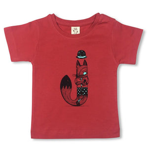 Jackal Brick Red Kids Tee