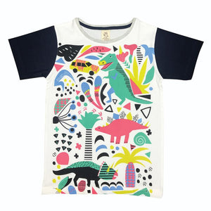 Jurassic Party White Kids Tee