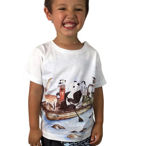 Wild Adventure White Kids Tee