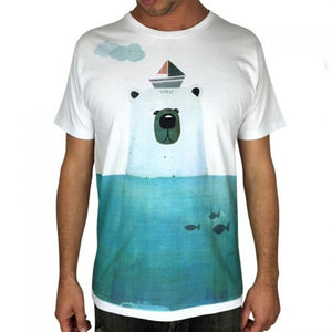 Polar Bear White Mens Tee