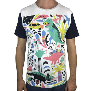 Jurassic Party White Mens Tee