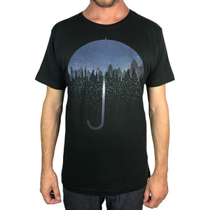 Umbrella Charcoal Mens Tee