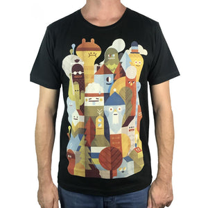 Character City Charcoal Mens Tee