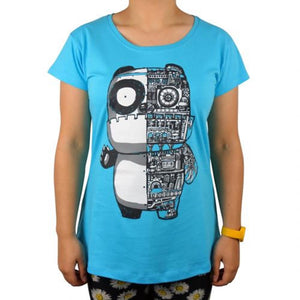 Panda Machine Bright Blue Womens Tee