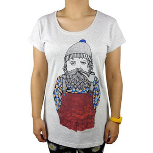 Sailor Man Grey Marle Womens Tee