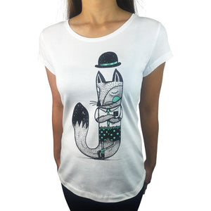 Jackal White Womens Tee