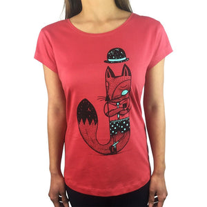 Jackal Brick Red Womens Tee