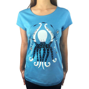 Octopus Garden Blue Moon Womens Tee