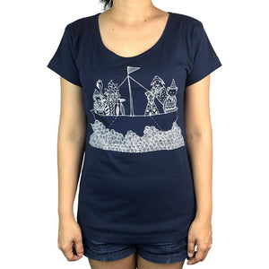 Tinas Ark Navy Womens Tee