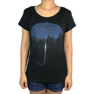 Umbrella City Charcoal Womens Tee