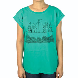 Tinas Ark Bright Green Womens Tee
