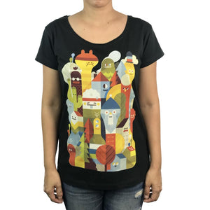 Character City Charcoal Womens Tee