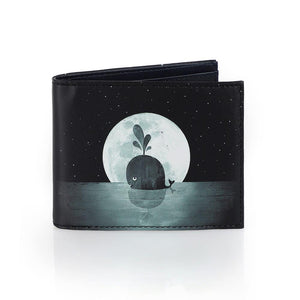 Print Wallet - Whale Moon