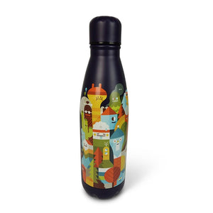 Insulated Water Bottle Thermos Character City