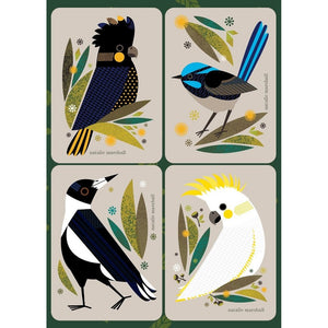 Natalie Marshall: Magnet Card Set Bird