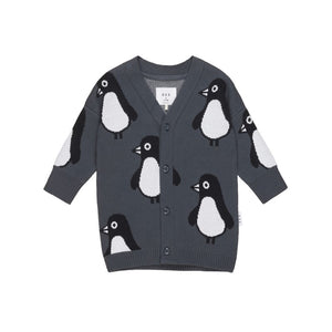 Huxbaby: Penguin Knit Cardigan Ink 3