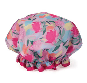 Australian Collection Shower Cap - Botanical Pink