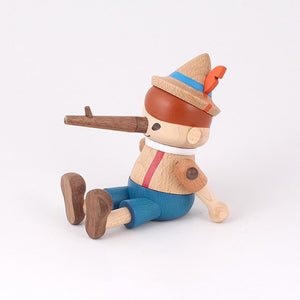 Wooden Pinocchio Smart Phone Stand