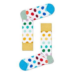Happy Socks - Big Dot Sock White S-M
