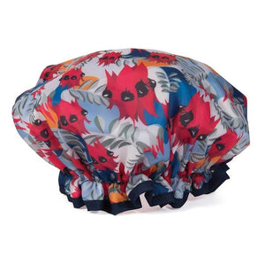 Australian Collection Shower Cap - Botanical Red