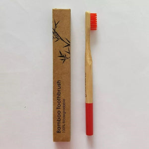 Bamboo Toothbrush Medium - Red