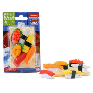 Puzzle Erasers Blister Pack - Sushi