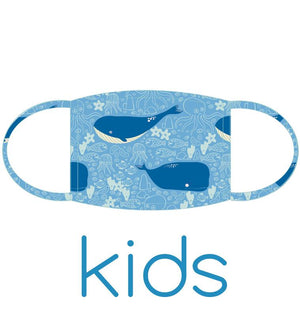 Kids Face Mask: Singing Whales
