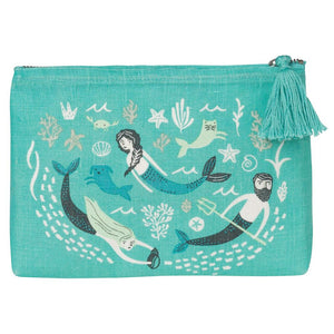Danica Studio: Linen Cosmetics Bag Small Sea Spell