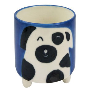Urban Products: Quirky Dog Planter with Legs Blue & White