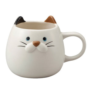White Tortoiseshell Cat Face Mug