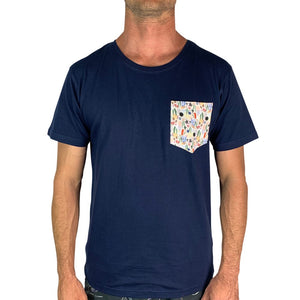 WildLyfe Navy Mens Pocket Tee