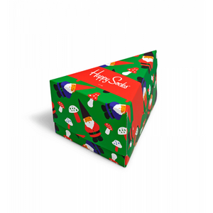 Holiday Gift Box Sock Green Red Multi