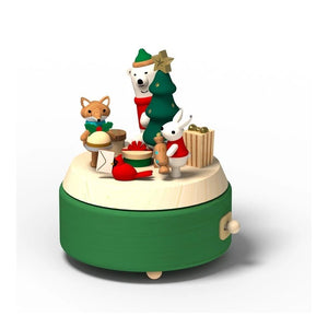 Wooderful Life: Music Box Xmas Critters With Gifts