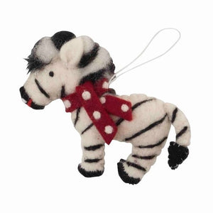 African Animals Christmas Ornament Zebra Scarf