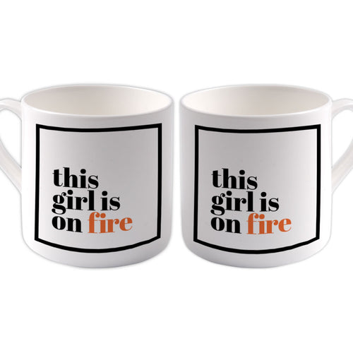 This girl is on fire Big Bone China Mug